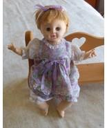 "Effanbee Suzie Doll 1970 Greenish/blue sleep eyes 14"" with speaker - $14.85"