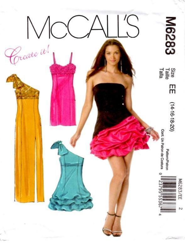 McCall's 6283 Misses' Lined Empire Waist Dresses Pattern Sz 14-20