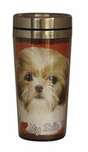 Shih Tzu Tan Insulated Tumbler Travel Mug Coffe... - $12.50