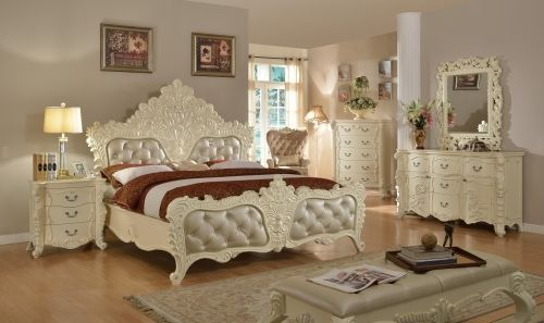 Meridian Novara Queen Size Panel Bedroom Set Traditional Style 2 Night Stands