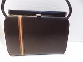 1960s Vintage AIR STEP Handbag Brown Vinyl - $19.34