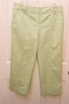 ANN TAYLOR LOFT Light Green Cotton Stretch Marisa Capris Pants Size 8 - $22.74