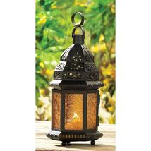 LARGE YELLOW GLASS MOROCCAN LANTERN - $14.95