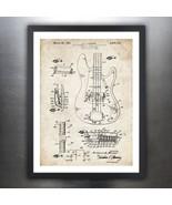 FENDER PRECISION BASS GUITAR 1961 PATENT PRINT POSTER VINTAGE ELECTRIC P... - $19.75+