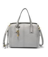 Fossil Emma Iron Leather Zipper Closure Double HandleSatchel/Shoulder/Ha... - $329.99
