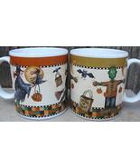 Two Sakura Halloween Debbie Mumm Mugs Cups 1998 - $20.00