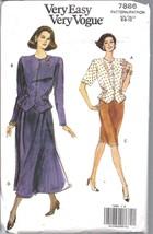 Non Tagliati Vintage Vogue Cartamodello Misses Vestibilità Comoda Top Gonna - $4.83