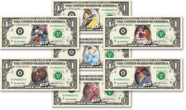Disney ROMANCE COLLECTION ( 7 Bills ) on REAL Dollar Bill Cash Money Ban... - $32.00