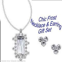 Necklace, Earring Chic Frost Necklace/Earrings Gift Set ~Silvertone~ NEW... - $24.70