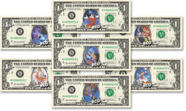 Disney MAGICAL COLLECTION ( 7 Bills ) on REAL Dollar Bill Cash Money Ban... - $32.00