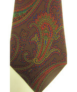 GORGEOUS Vintage Gucci Big Paisley Silk Tie Green. Gold, Red, Blue Made ... - $52.49