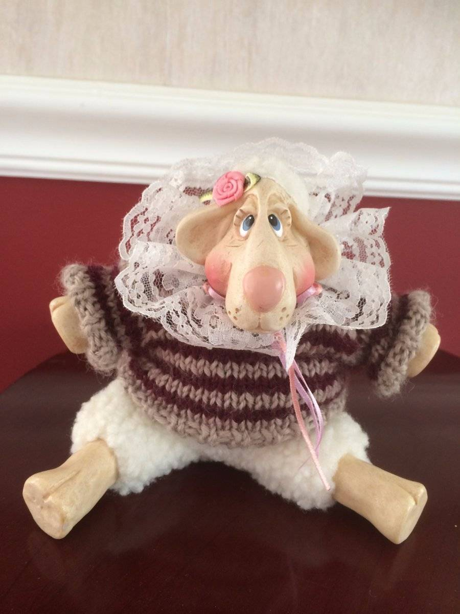 Primary image for Sweet Lulu Lamb Figurine Russ Berrie Kathleen Kelly Critter Factory 6""