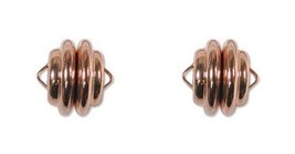 5 Sets Copper Magnetic Clasps Mag Lok ~ Super Strong 10mm X 10mm With Loop - $19.68