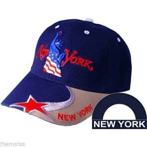 NEW YORK STATUE OF LIBERTY USA FLAG EMBROIDERED RWB HAT CAP - $34.64