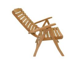 "Premium Grade A Teak 5 Position Reclining Folding Arm Chair w/ 41"" High Back - $495.00"