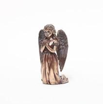 INFANT JESUS NATIVITY STATUE PRAYING ANGEL BRONZE FINISH HOME DECOR - $19.99