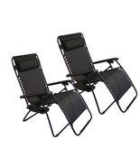 2 Folding Zero Gravity Reclining Lounge Chairs+Utility Tray Camping Beac... - $52.99