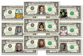 WIZARD OF OZ 9-set Dollar Bill Collection - Made with Real Money Cash Cu... - $40.00