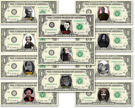 Halloween CLASSIC MOVIES 11 Bills Collection on REAL Money Cash Bank Not... - $50.00