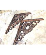 2 Cast Iron Brackets Wall Shelf Island Architectural corbels braces bz - $69.98