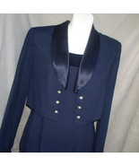 Long Dress Formal Dress and Bolero Jacket Navy Blue J.R. Nites Size 6 - $31.00