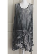 Dress to Kill by Jane Mohr Lagenlook Gray Ruched Tie Dye Sleeveless Dres... - $159.95