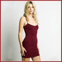 Bohemian Sleeveless Spaghetti Strap Stretchy Jersey Knitted Mini Slip Dress image 6