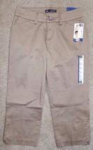 New Lee 4 M Crop Pants Tan Curvy Fit Modern Series Khaki Capris Cotton S... - $20.55
