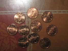 WHOLESALE COIN LOT OF 10-17MM IRISH IRELAND HARP EURO COPPER COLOR COINS - $8.90