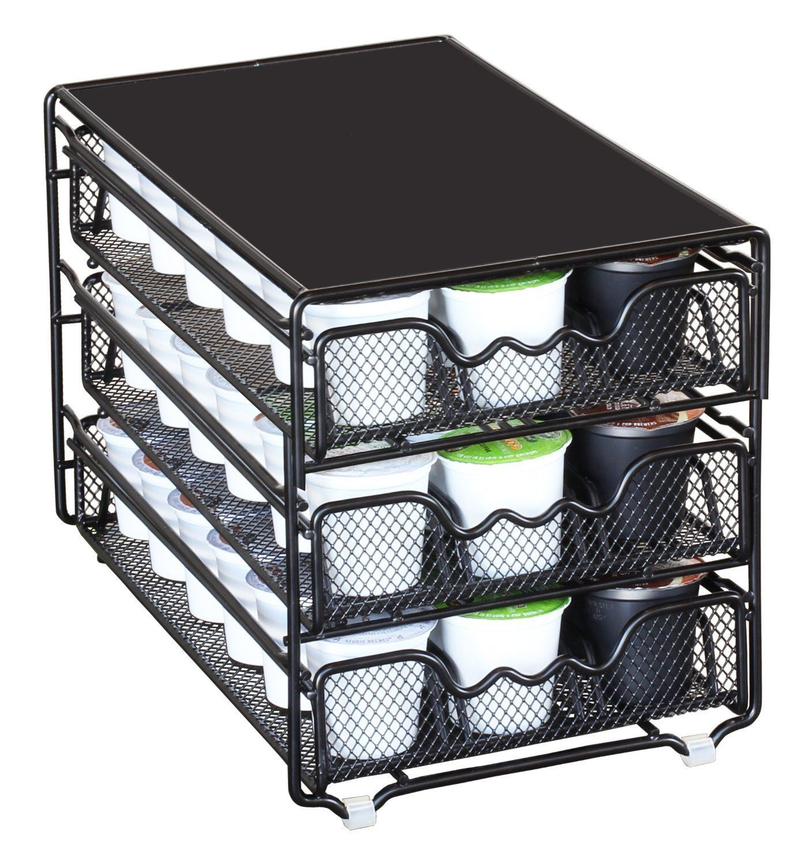 K Cups Holder Coffee Pod Drawer Rack Organizer 54 Storage ...