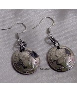 DIME EARRINGS BIRTHDAY ANNIVERSARY PICK ANY YEAR STERLING SILVER 1941 75 - $12.34+