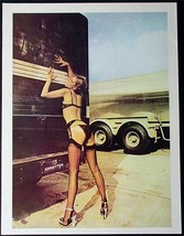 Viintage Pin Up Girl 2 Sided Poster! Sexy Erotic Truckers Photo! Hot Pinup Art! - $5.94