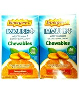 Lot of 2 Emergen-C Immune Plus + Chewables, 28 Total Tablets, Vitamin C ... - $23.75