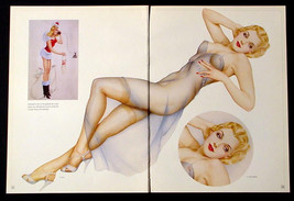 VARGAS LOT OF 3 PIN-UP GIRL CENTERFOLD POSTERS FROM 1940 VARGA PAINTINGS - $12.59