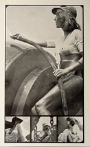 VINTAGE UK READY MIX CONCRETE CALENDAR GIRL PINUP POSTER ART WET BRALESS... - $5.94
