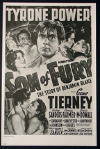 SON OF FURY GENE TIERNEY TYRONE POWER TWO-FACED WOMAN GRETA GARBO AD POSTER - $12.59