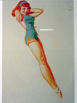 George Petty Pin Up Girl Poster Sexy Redhead Ballerina  Hot Photo Art Print! - $4.99