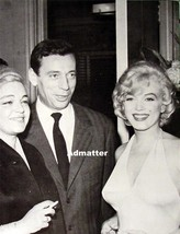 Marilyn Monroe & Yves Montand Vintage Pin Up Great Photo With Old Friends! - $4.99
