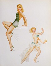 VARGAS Pin-up Art Poster Girls Green Envy Gals & Army WAC from 1945 Pain... - $6.89
