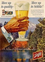 1958 MOVE UP TO SCHLITZ BEER THAT MADE MILWAUKEE FAMOUS AD BREWING CO. B... - $6.89