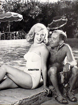 MARILYN MONROE PIN-UP POSTER SEXY SWIM SUIT POOL-SIDE PHOTO W/ AGENT JOH... - $4.99