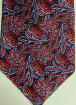 NEW Brooks Brothers Copper and Light Blue Big Paisley Silk Tie Made in USA - $44.99