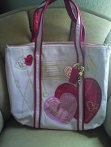 PRE OWNED/COACH POPPY/PINK LEATHER HEART TOTE/LEATHER/14551 - $300.00