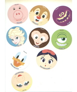 TOKYO DISNEYLAND stickers ELSA/Miss Piggy/DALE/Mike/DONALD/Snow White/HA... - $13.00