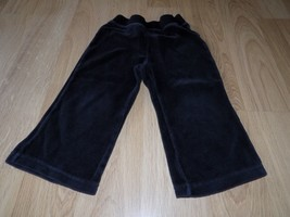 Size 24 Months Faded Glory Solid Black Velour Lounge Sweat Pants GUC - $8.00