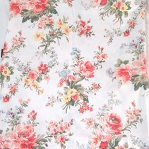 Ralph Lauren Petticoat Floral Multi Cotton Queen Flat Sheet - $58.00