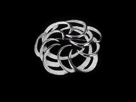 Vintage Costume Jewelry, Sarah Coventry Silver Tone Swirl Brooch PIN38 - $12.69