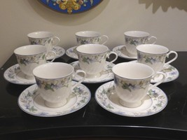 Gorham Sweet Violet Cups And Saucers Set Of 8 - $199.00