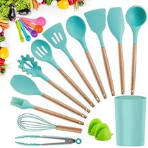 Kitchen Utensil Set, CROSDE 12pcs Cooking Utensils Set Silicone Kitchen ... - $25.09