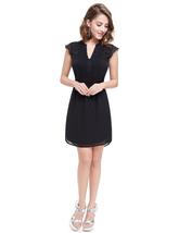 Black V Neck Polka Dot Summer Shirt Dress For Ladies - $80.00